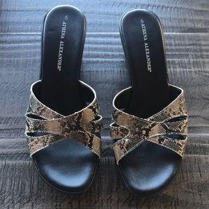 Athena Alexander heeled sandals.